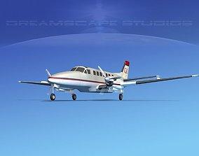 Beechcraft B99 Georgia Executive 3D model