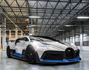 3D 2019 Bugatti Divo