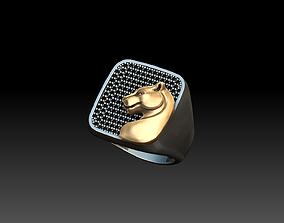 Panther signet ring 3D printable model