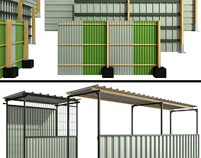 3D model Protective security fencing of construction 2