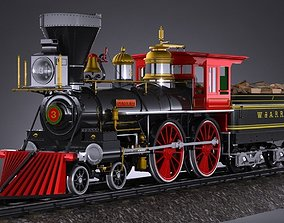3D The General 4-4-0 Steam Locomotive