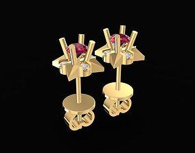 3D print model 1463 Diamond Earrings