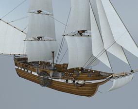 boat Steam Ship 3D