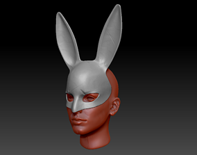 3D printable model Detailed Bunny Mask