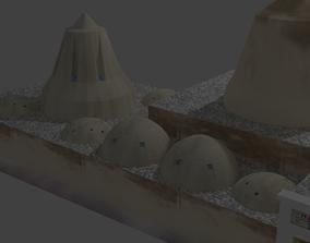 3D asset low-poly hamam