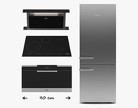 Miele kitchen appliance - oven fridge extractor 3D model 1