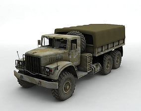 Military Offroad Truck Kraz 255b 3D model