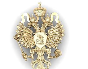 3D printable model coat of arms of the Russian Empire of 2