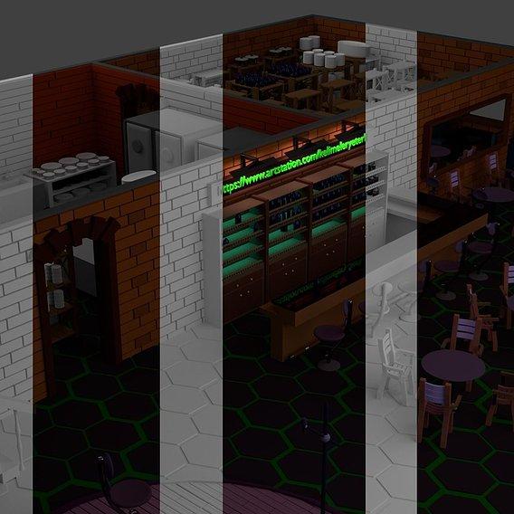 Restaurant Bar Kitchen Stage Storage SET p1