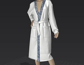 bathrobe and clothes 3D model