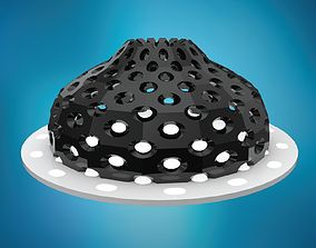 Dome pointed with round perforations large panels 3D asset