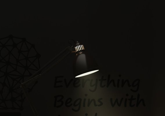 Study Lamp Render