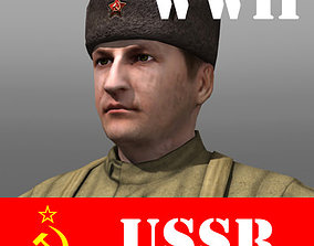 3D model Soviet Soldier and Ppsh 41