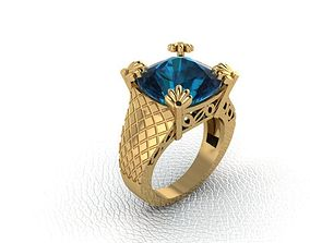 gems 3D printable model Ring