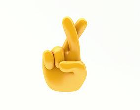 EMOJI HANDS CROSS FINGUERS 3D model
