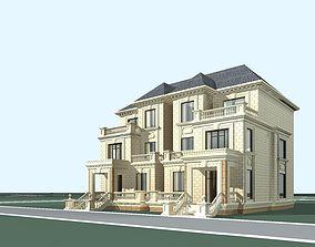 Villa 3D model city-block