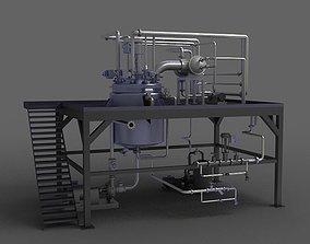 Hot Water pump Valve Piping chlorination boiler 3D model