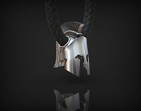3D printable model Spartan helmet Pendant Bead necklace