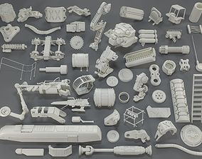 Kit bash - 54 pieces - collection-15 3D