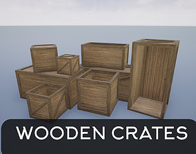 Low Poly Wooden Crates 3D model