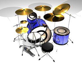 3D hihats Drum Set