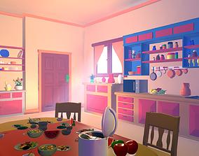 Asset - Cartoons - Kitchen - 3D model VR / AR ready