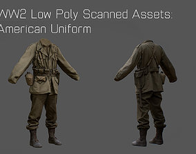 US American Uniform WW2 Photogrammetry Based 3D realtime