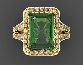 sterling Emerald ring 3D print model