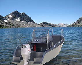 Sheetmetal aluminium boat 3D