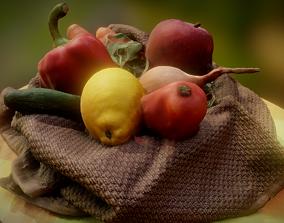 Basket vegetables 3D