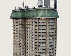 Building Skyscraper City Town Downtown Office 3D model 3