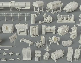 3D kitbash Factory Units-part-6 - 48 pieces