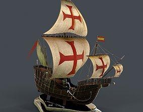 Santa Maria 3d model PBR