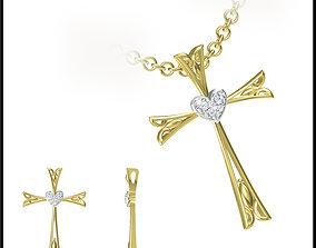 3D print model JCD Vintage style pendant jewelry design