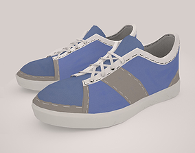 3D asset Sneakers Low Poly