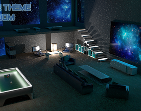 3D model Space Theme Room
