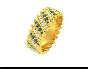 3D print model many many stone ring