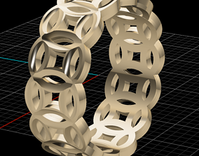 canaridia Ring Band 3D print modelring diamond-ring