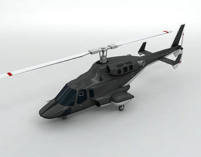 Airwolf Helicopter 3D model