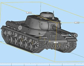 Is-2 Iosef Stalin Tank Highly 3D printable model