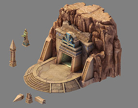 3D model Game Blood Festival Canyon - Temple 01