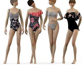 Swimwear 2018 Bikini Girls woman 3D