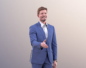 3D asset Andrew 10601 - Business Man Shakeing Hand
