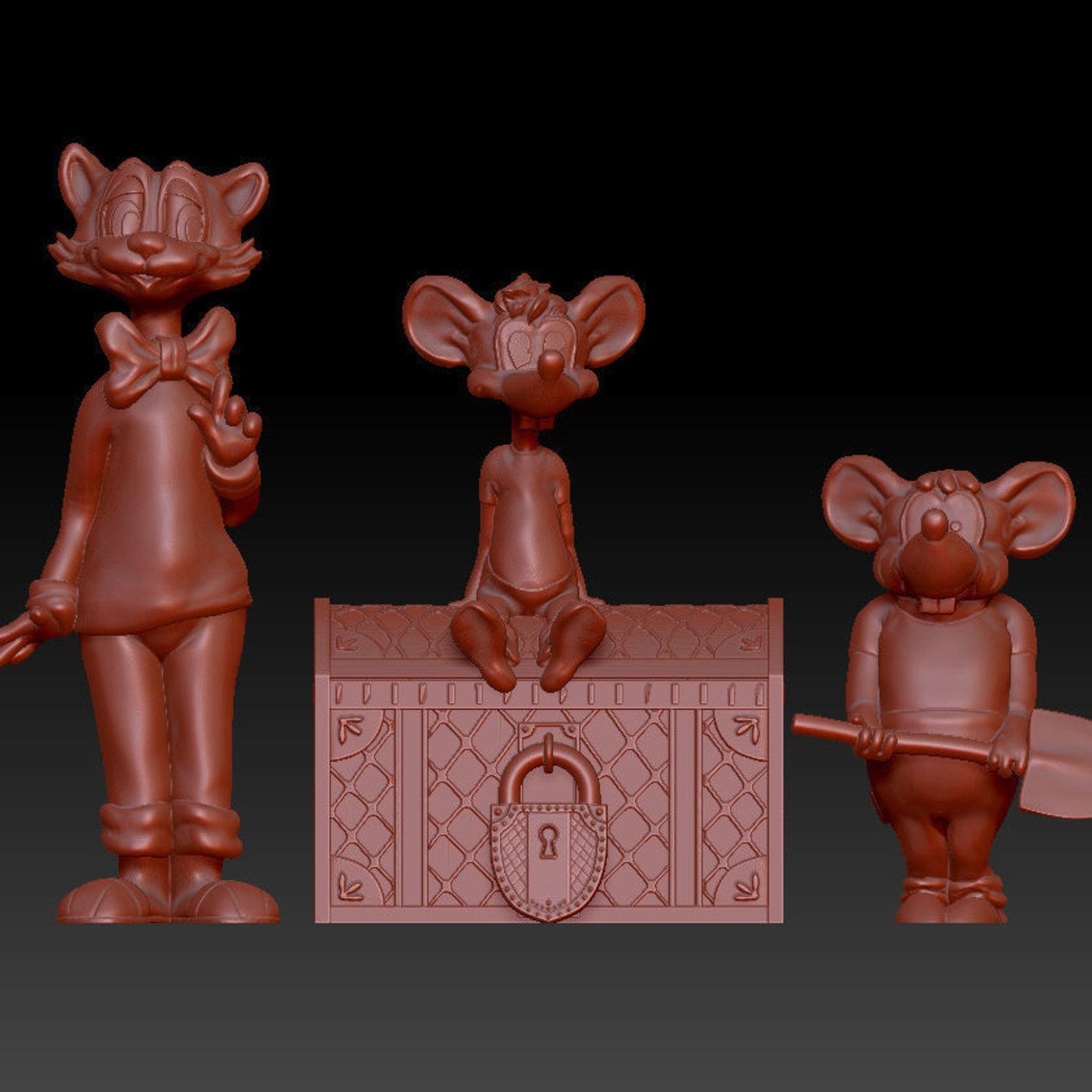 Adventures of Leopold the cat 3D print model