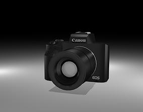 Canon EOS M50 2018 3D asset low-poly