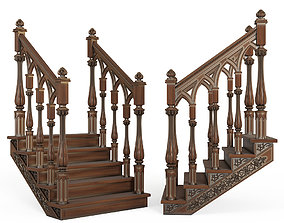 3D model stair Stairs cnc kitbash