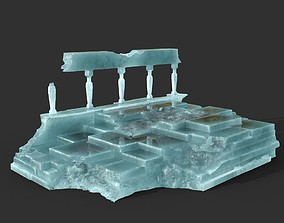3D model Low poly Ancient Roman Ruin Construction 08 - Ice