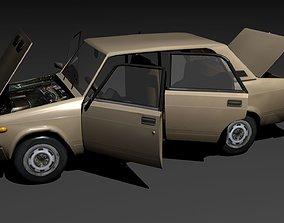 russian car vaz 2105 3D asset