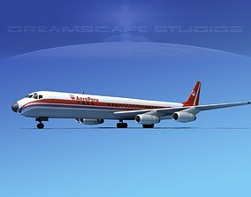 3D model Douglas DC-8-63 Aero Peru