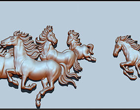 3D printable model Horse head bas relief for CNC